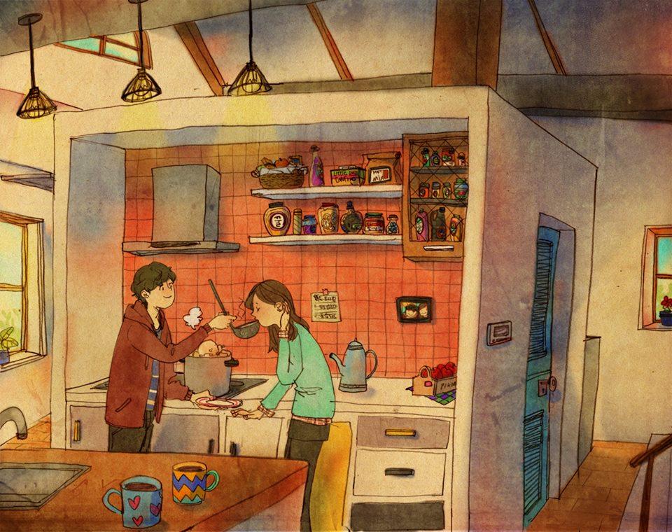 Aşk Birlikte Yemek Yapmaktır
